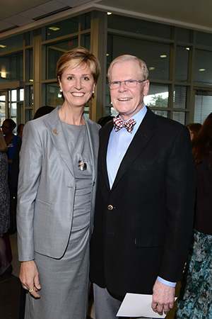 Chancellor Carine M. Feyten and her husband Chad Wick