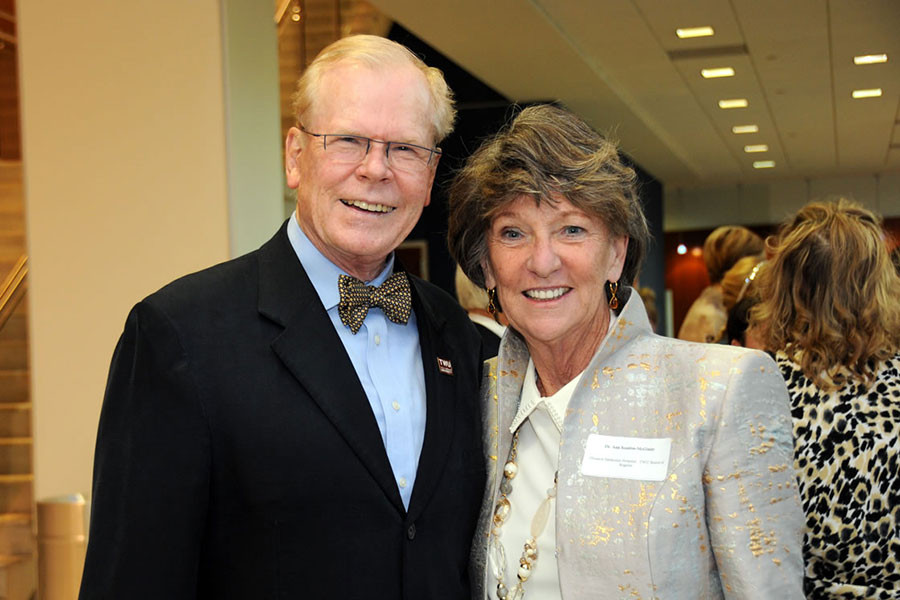 Chad Wick and Dr. Ann Scanlon McGinty