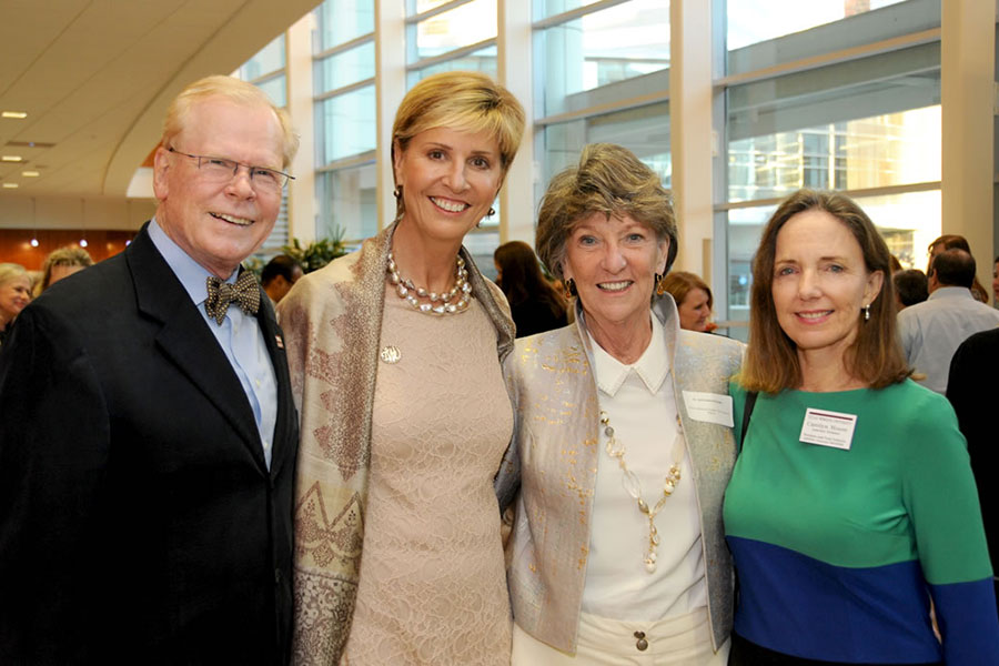 Chad Wick, Chancellor Feyten, Dr. Ann Scanlon McGinty, and Dr. Carolyn Moore