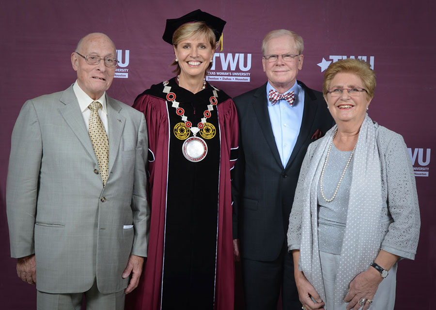 Chancellor Feyten with her family