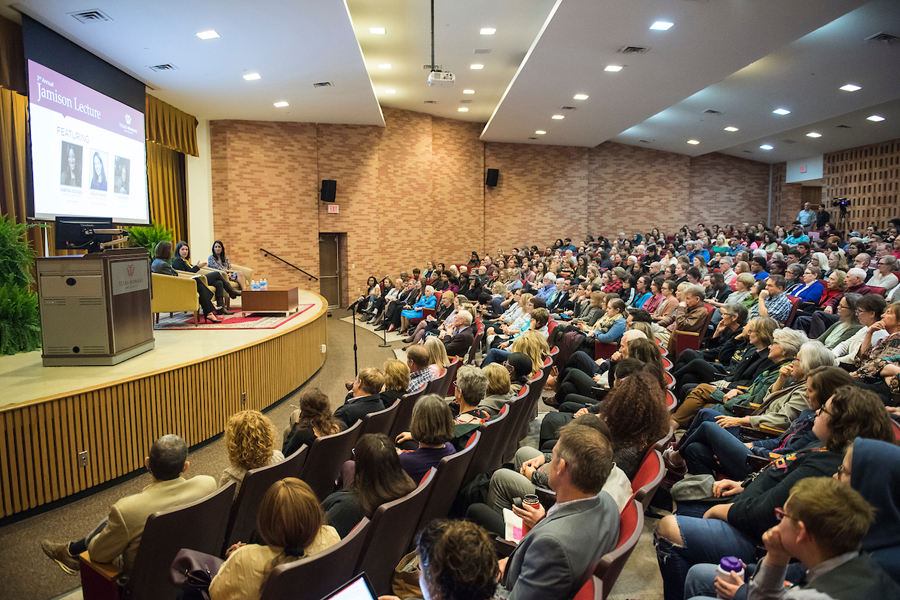 Crowded auditorium during 2018 Jamison Lecture