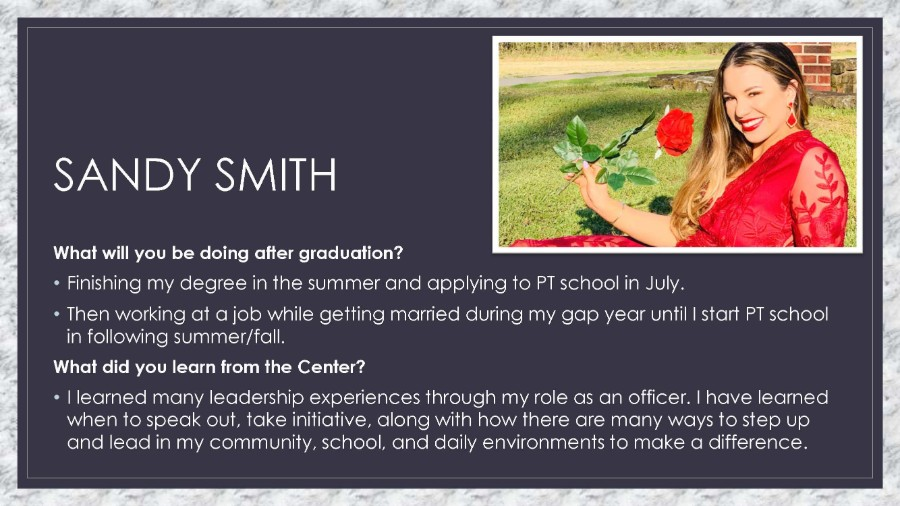 TWU CSL 2019 Graduating Seniors Sandy Smith