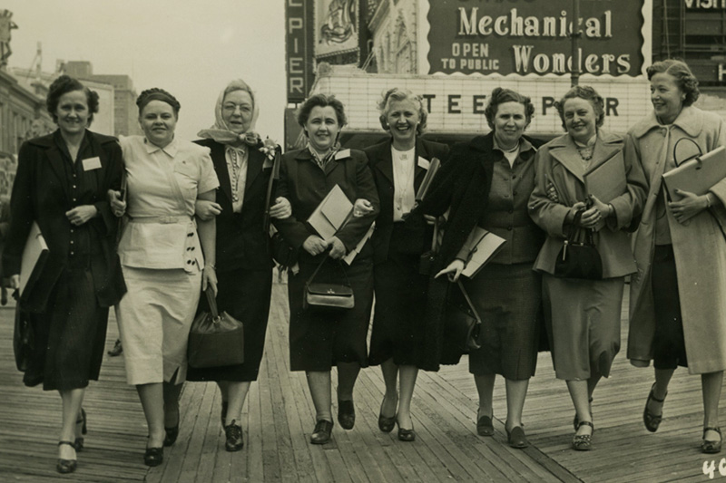 Group of women walking, 1951, Atlantic City, NJ