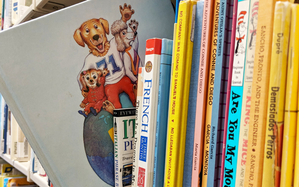 books from the children's collection