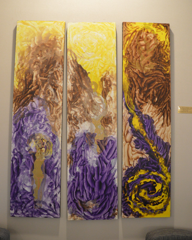 Goddess Triptych. Mixed media, oils and acrylics