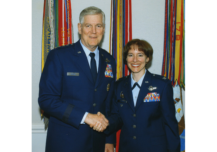 General Richard B. Myers and Col. Marcelyn Atwood, USAF.