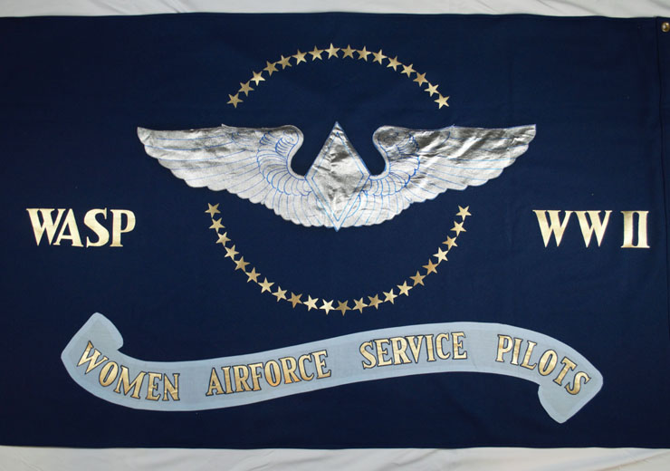 Banner with WASP wings displayed during the 1992 WASP reunion