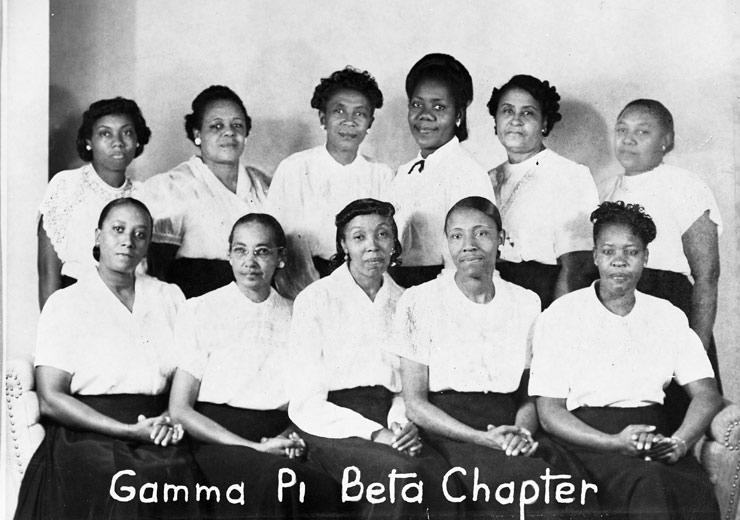 Gamma Pi Beta Chapter, early 1940s.