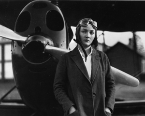 Nancy Harkness Love with her plane