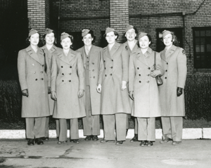 Members of the Women's Auxiliary Ferrying Squadron (WAFS) at Newcastle Army Air Base, Wilmington, Delaware, Winter 1943.
