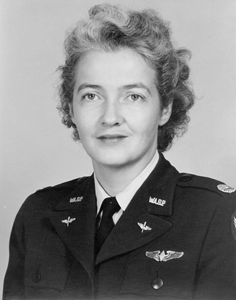 Nancy Harkness Love portrait in her WASP uniform