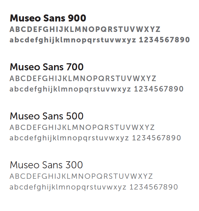 Museo Sans typeface examples