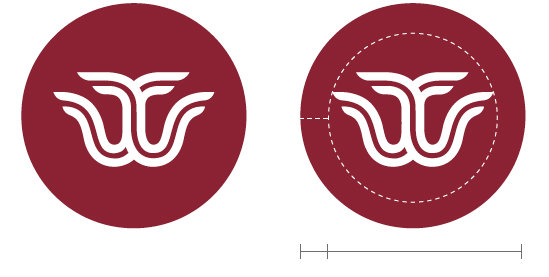 White TWU logomark in maroon circle