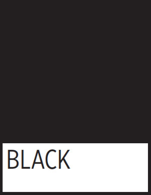 A square of TWU's approved black color.