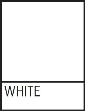 A square of TWU's approved white color.