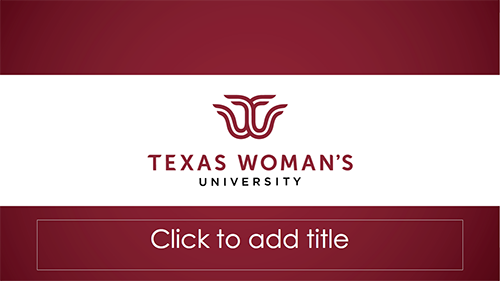 Powerpoint templates texas womans university red bars with twu logo on white bar download powerpoint template a toneelgroepblik