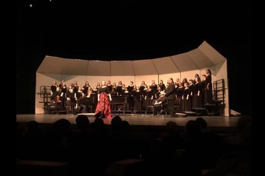 The TWU Concert Choir performing at ACDA