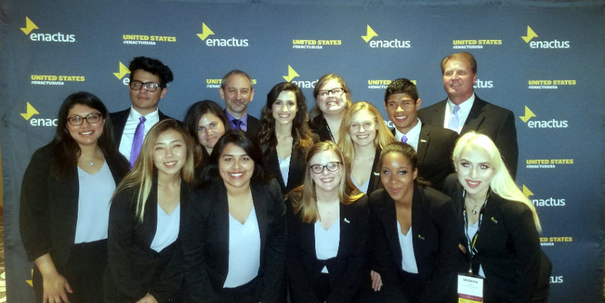 Photo of the 2017 TWU Enactus team
