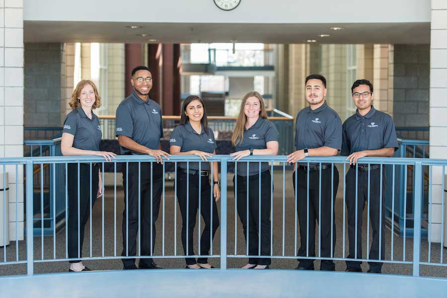 TWU's Good Vibrations Team of six kinesiology undergraduate students