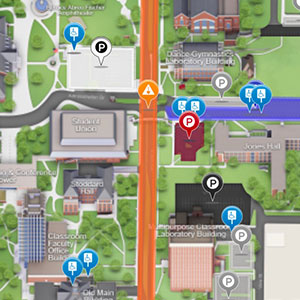 A thumbnail image of the CampusBird map showing a construction area