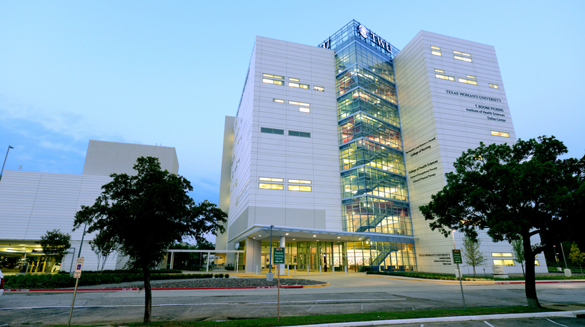 photo of the TWU Dallas center building