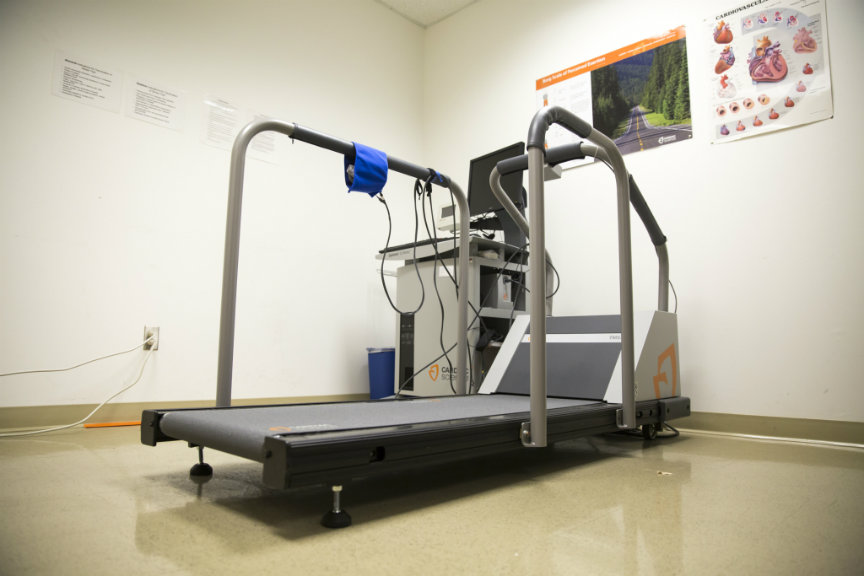 Treadmill with various sensoring devices