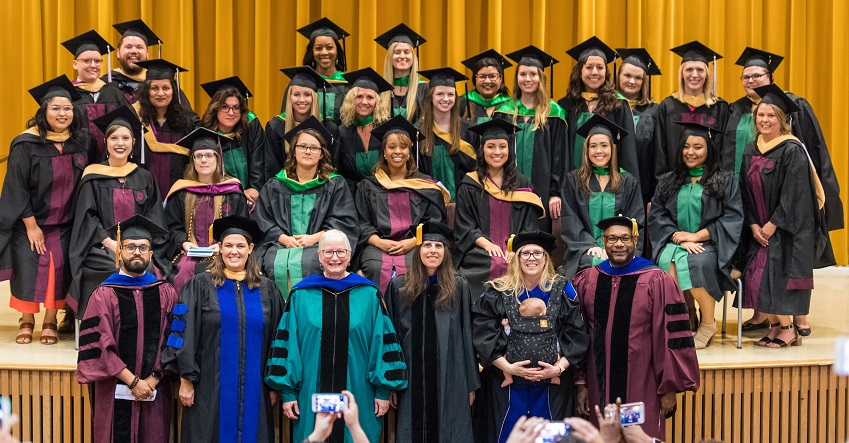 Inaugural TWU-UNT JMSW program graduating class of 2019.