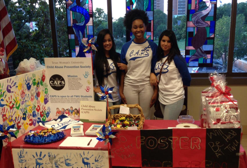 TWU CAPS members at a Student Union recruitment event.
