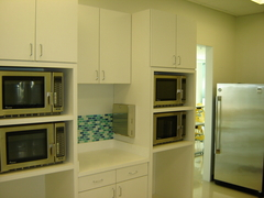 Four microwaves at the TWU Houston campus