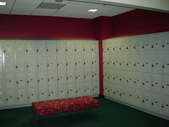 Lockers at the tWU Houston Campus