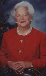 Barbara Bush, Texas Women's Hall of Fame Inductee 1989