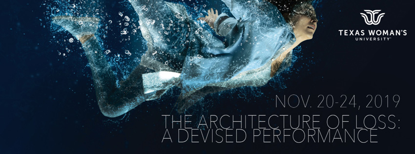 Poster for Architecture of Loss featuring a woman underwater