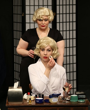 "Production photo of ""Blonde Ambition,"" written by Lindsay Hayward and produced by Rover Dramawerks as part of their 365-Days of Women Festival."