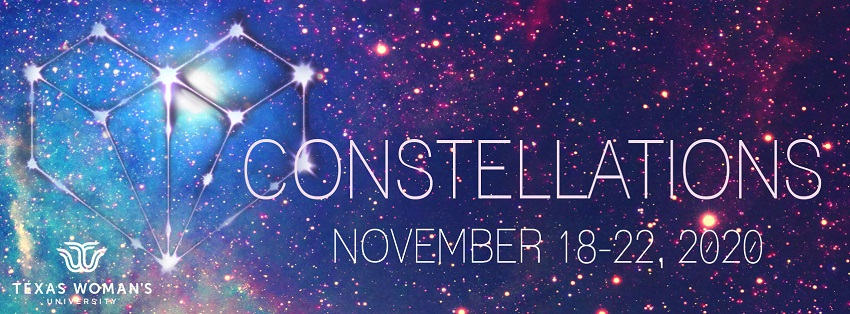 Banner for 2020 production of 'Constellations'