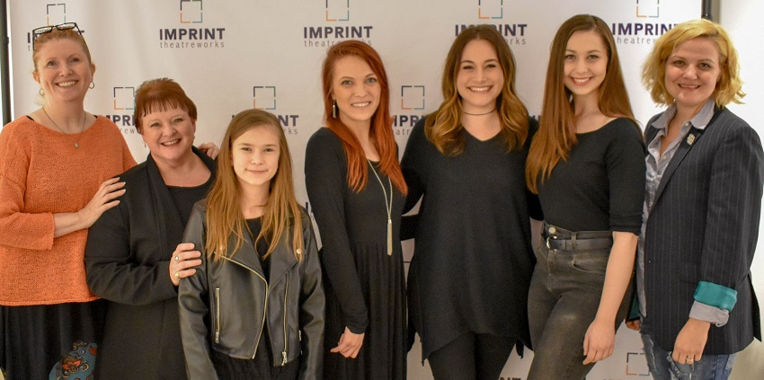 Lindsay Hayward (far right) at the IMPRINT Theatreworks First Impressions Festival.