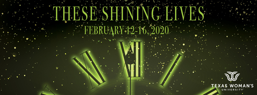 Poster for These Shining Lives featuring a glowing clock face