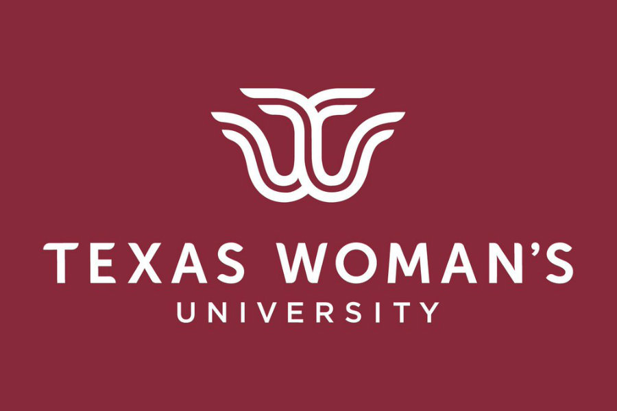TWU's new logo with Texas Woman's University written underneath.