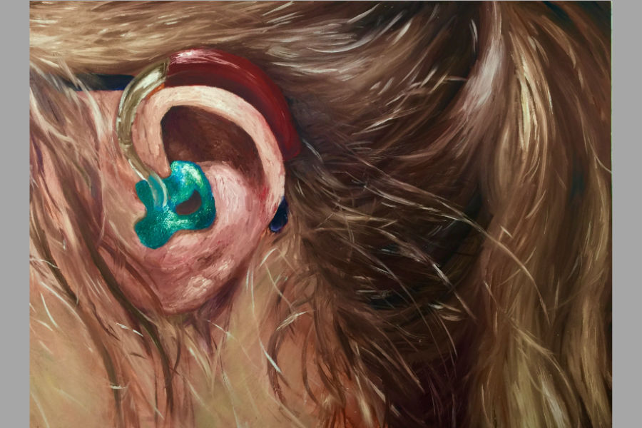 Hannah Werchan's 'Hearing Loss' painting