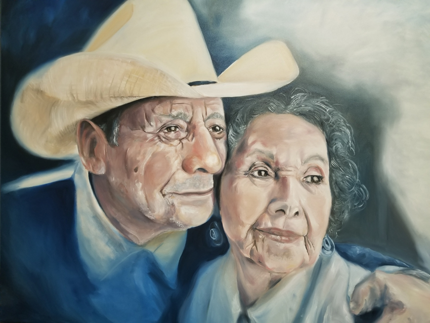 'Cowboy Fans' painting by Irma Cardoza