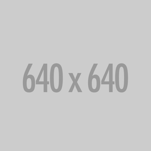 A gray 640 by 640 placeholder image