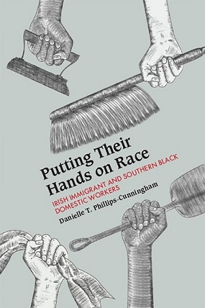 Putting Their Hands on Race book cover featuring an illustration of hands and tools