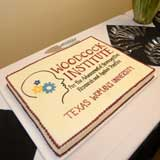 Dedication ceremony cake
